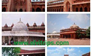 फतेहपुर सीकरी का इतिहास, दरगाह, किला, बुलंद दरवाजा, पर्यटन स्थल